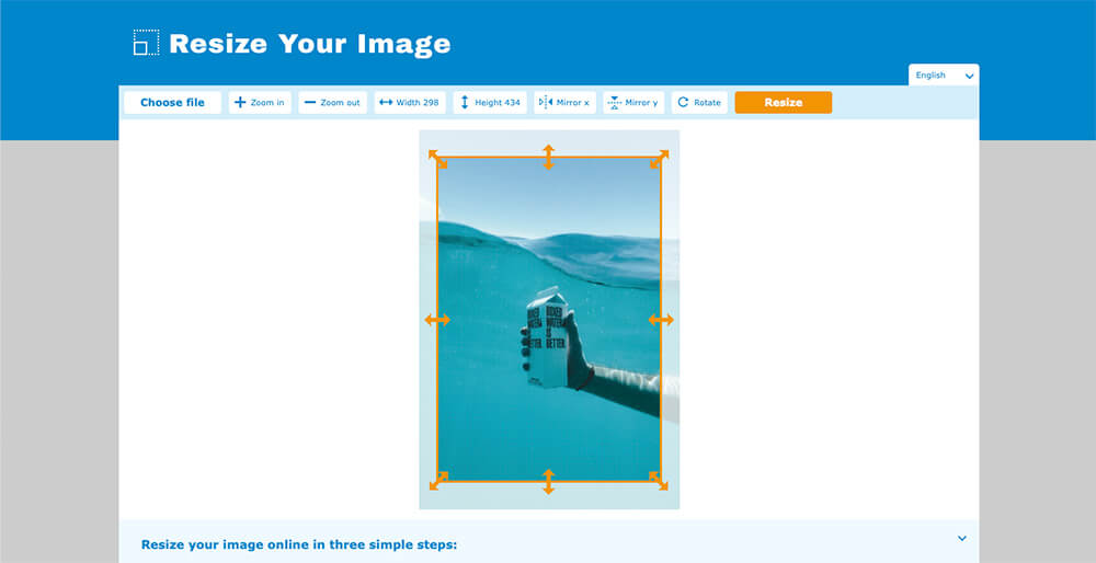 How to easily resize an image online [2/8]