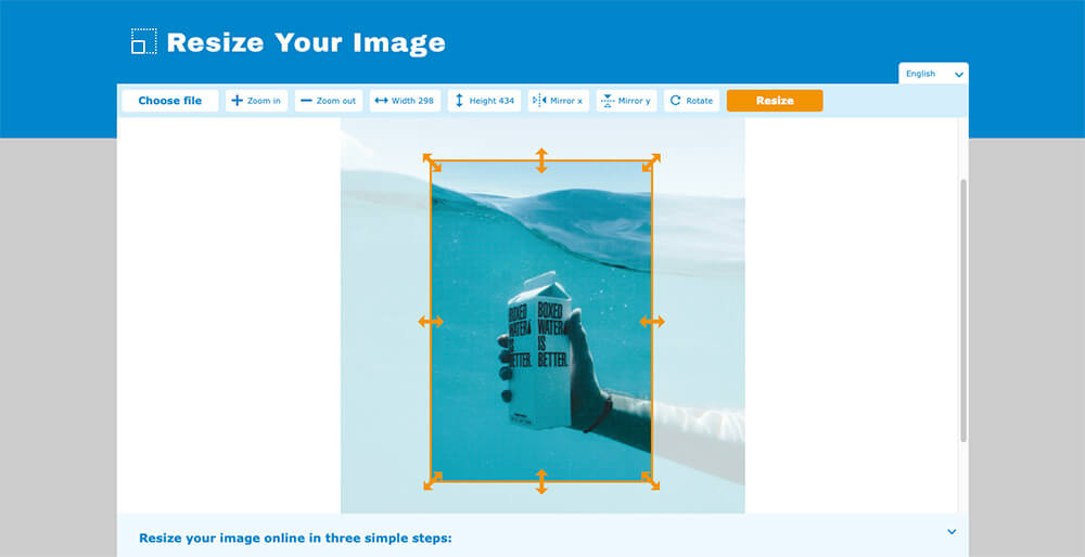 How to easily resize an image online [3/8]