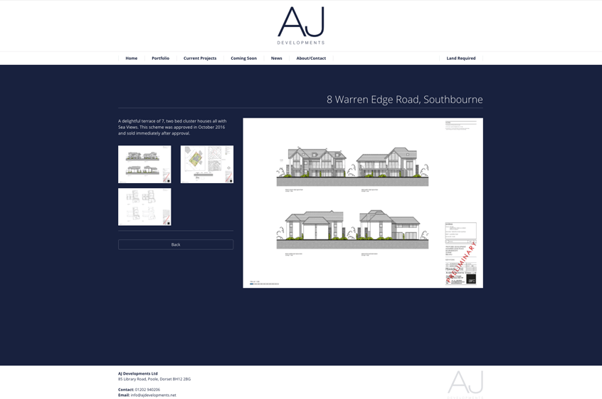 AJ Developments Website